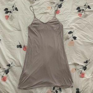 H&M Taupe/Grey Slip Dress